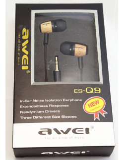 Наушники Awei ES-Q9 yellow