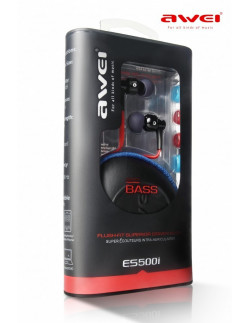 Наушники Awei ES-500i black (с гарнитурой)