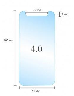 Универсальное защитное стекло 4.0 дюйма