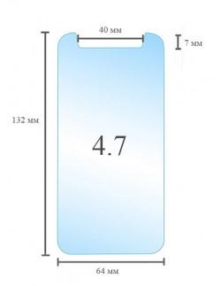 Универсальное защитное стекло 4.7 дюймов
