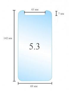 Универсальное защитное стекло 5.3 дюйма