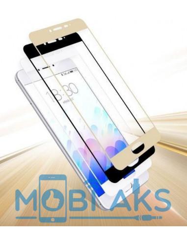 Цветное защитное стекло Meizu M3 Note (Золото, серебро, белое)