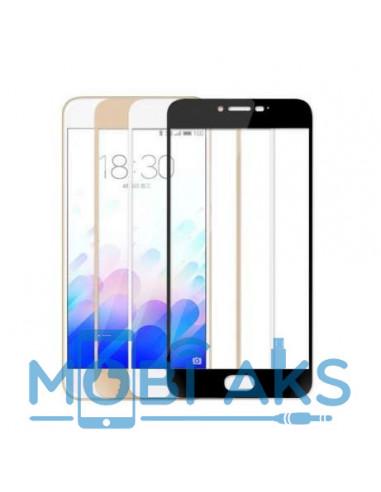 Цветное защитное стекло Meizu M3/M3s