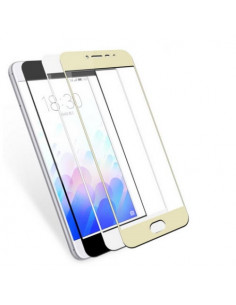 Цветное защитное стекло 3D Full Screen Meizu Pro 6