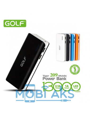 Внешний аккумулятор (Power Bank) Golf GF-209 13000 мАч