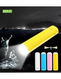 Внешний аккумулятор (Power Bank) Golf GF-D1S LED 2000 мАч