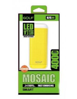 Внешний аккумулятор (Power Bank) Golf GF-D2S LED 4000 мАч