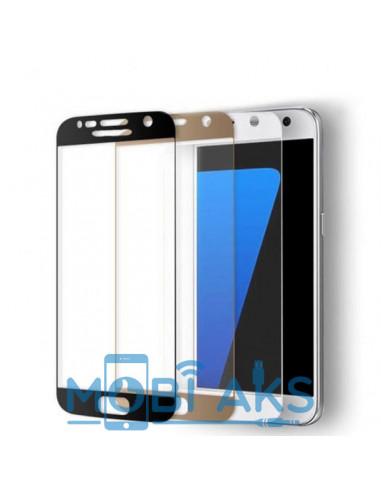 Цветное защитное стекло Samsung S7 edge
