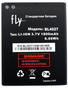 Аккумулятор BL4027 ( 1800 мАч ) для Fly Phoenix