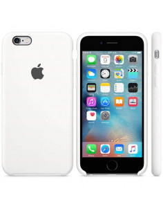 Чехол Silicone case для iPhone 6/6S White
