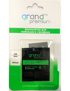 Аккумулятор Grand Premium BN34 для Xiaomi Redmi 5A (3000 мАч)
