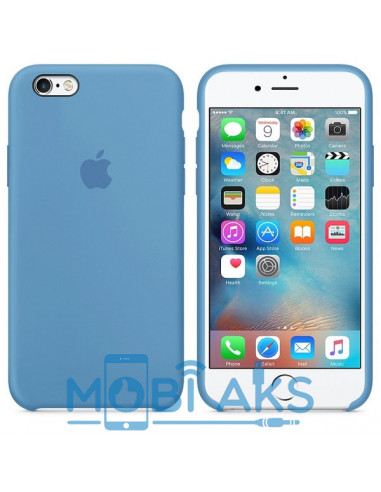 Чехол Silicone case для iPhone 6S Azure
