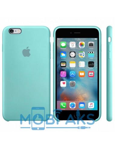 Чехол Silicone case для iPhone 6 / 6S Sea blue