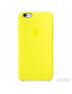 Чехол Silicone case для iPhone 6/6S New yellow
