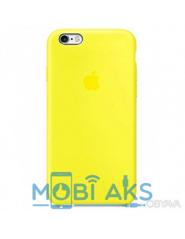 Чехол Silicone case для iPhone 6 / 6S New yellow