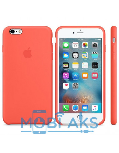 Чехол Silicone case для iPhone 6 / 6S New apricot