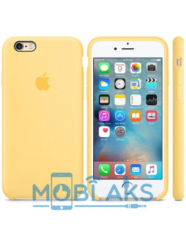Чехол Silicone case для iPhone 6 / 6S Yellow