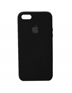 Чехол Apple Silicone case (силикон кейс) для iPhone 5|5S|SE Black