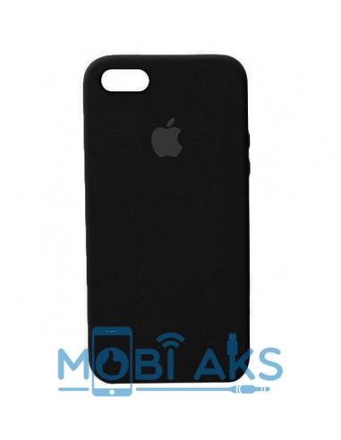 Чехол Apple Silicone case (силикон кейс) для iPhone 5 / 5S / SE Black