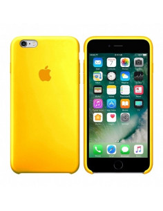 Чехол Apple Silicone case (силикон кейс) iPhone 5 / 5S / SE Canary Yellow
