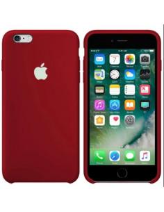 Чехол Silicone case (силикон кейс) iPhone 6S Plus Camelia White