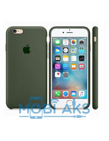 Чехол Silicone case (силикон кейс) для iPhone 6S Plus Dark Olive