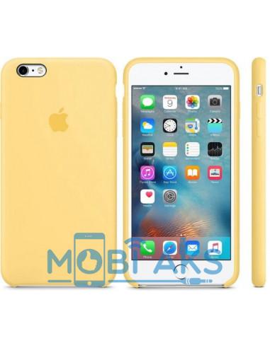 Чехол Silicone case (силикон кейс) iPhone 6S Plus Yellow