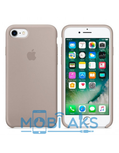Чехол Silicone case для iPhone 5 / 5S / SE Pebble