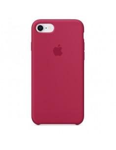 Чехол Silicone case для iPhone 5|5S|SE Rose Red