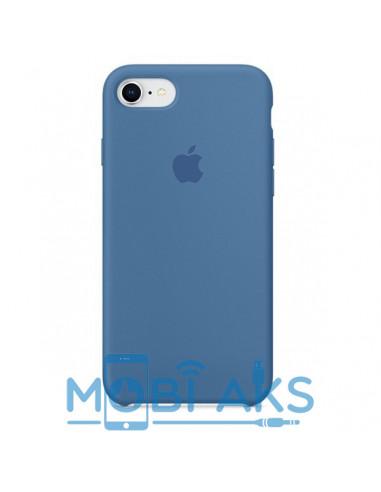 Чехол Silicone case для iPhone 5 / 5S / SE Denim Blue