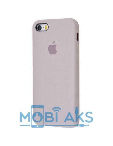Чехол Silicone case для iPhone 5 / 5S / SE Lavander Gray
