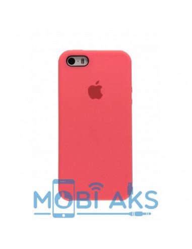 Чехол Silicone case для iPhone 5 / 5S / SE Rose