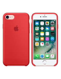 Чехол Silicone case для iPhone 5|5S|SE Red