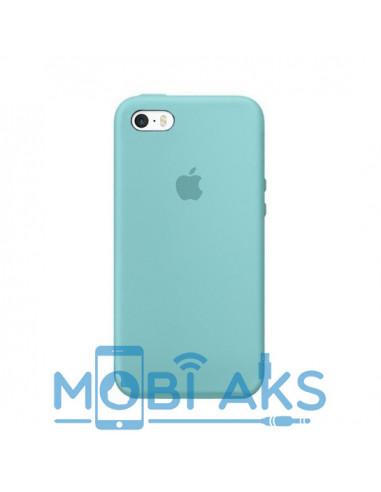Чехол Silicone case для iPhone 5|5S|SE Light Blue