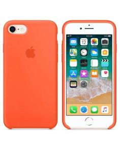 Чехол Silicone case (силикон кейс) iphone 7/8 Orange