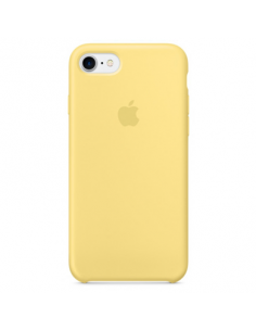 Чехол Silicone case (силикон кейс) для iPhone 7 / 8 Yellow