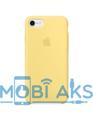 Чехол Silicone case (силикон кейс) для iPhone 7 / 8 Yellow