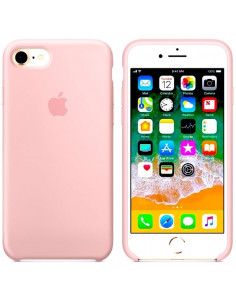 Чехол Silicone case (силикон кейс) для iPhone 7/8 Light Pink