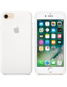 Чехол Silicone case (силикон кейс) для iPhone 7/8 White