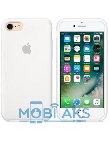 Чехол Silicone case (силикон кейс) для iPhone 7 / 8 White