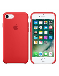 Чехол Silicone case (силикон кейс) для iPhone 7/8 Red