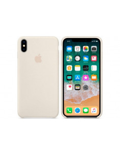 Чехол Silicone case (силикон кейс) iPhone X/XS Antique White