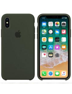Чехол Silicone case (силикон кейс) iPhone X/XS Dark Olive
