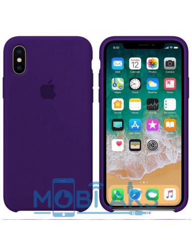 Чехол Silicone case для iPhone X/XS Ultra Viloet