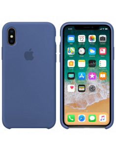 Чехол Silicone case (силикон кейс) iPhone X/XS Azure