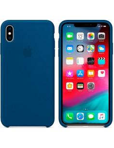 Чехол Silicone case (силикон кейс) iPhone X/XS Blue New