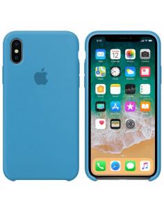 Чехол Silicone case (силикон кейс) iPhone X/XS Blue