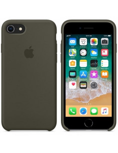 Чехол Silicone case (силикон кейс) для iPhone 7 / 8 Dark Olive