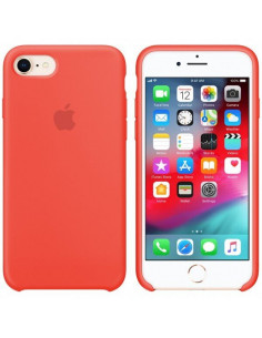 Чехол Silicone case для iPhone 7/8 Coral