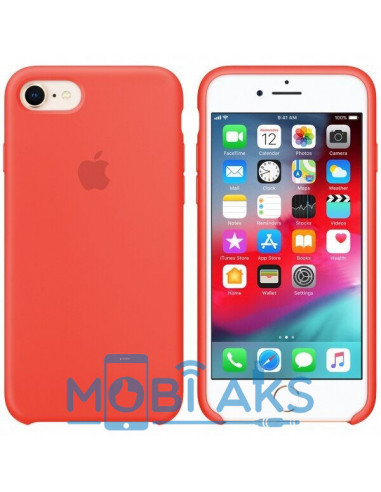 Чехол Silicone case для iPhone 7 / 8 Coral